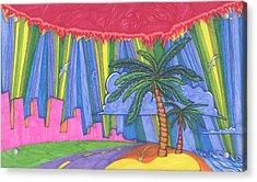 Pink City Acrylic Print by James Davidson
