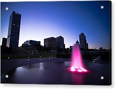 Pink Fountain Acrylic Print by Jonah  Anderson