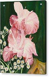 Pink Glad Acrylic Print by Judy Loper