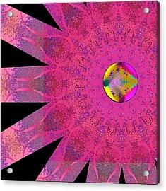 Pink Ribbon Of Hope Acrylic Print by Alec Drake