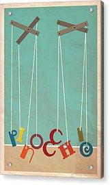 Pinocchio Acrylic Print by Megan Romo