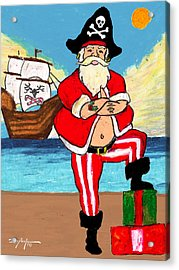 Pirate Santa Acrylic Print by William Depaula