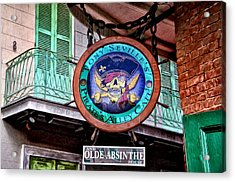 Pirates Alley Cafe Acrylic Print by Bill Cannon
