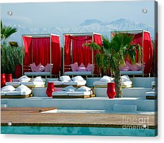 Plage Rouge Acrylic Print by Sophie Vigneault