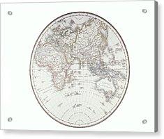 Planispheric Map Of The Eastern Hemisphere Acrylic Print by Fototeca Storica Nazionale
