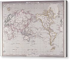 Planispheric Map Of The World Acrylic Print by Fototeca Storica Nazionale