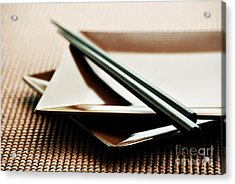 Plates And Chopsticks Acrylic Print by HD Connelly