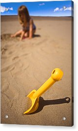 Playtime At The Beach Acrylic Print by Meirion Matthias