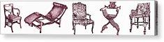 Plum Chair Poster Horizontal  Acrylic Print by Adendorff Design