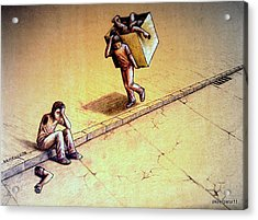 Poetries Incomplete Acrylic Print by Paulo Zerbato