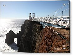 Point Bonita Lighthouse In The Marin Headlands - 5d19668 Acrylic Print by Wingsdomain Art and Photography