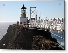 Point Bonita Lighthouse In The Marin Headlands - 5d19671 Acrylic Print by Wingsdomain Art and Photography
