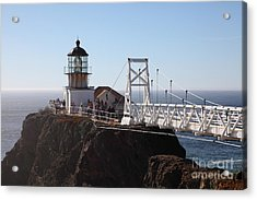 Point Bonita Lighthouse In The Marin Headlands - 5d19697 Acrylic Print by Wingsdomain Art and Photography