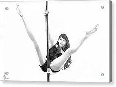Pole Dancer Acrylic Print by Murphy Elliott