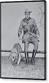 Policeman And His Dog Walking, 1950s Acrylic Print by Archive Holdings Inc.