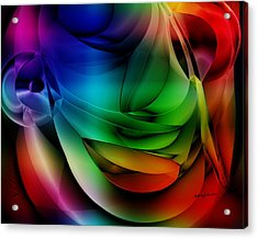 Polychromatic Abstract Acrylic Print by Anthony Caruso