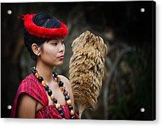 Polynesian Beauty Acrylic Print by Ralf Kaiser