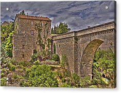Pont De Minerve Acrylic Print by Rod Jones