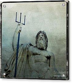 Ponte Sant'angelo. Piazza Del Popolo. Rome Acrylic Print by Bernard Jaubert