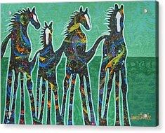Pony Pastures Acrylic Print by Lance Headlee