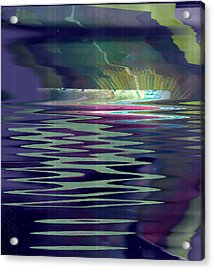 Pool Of Reflections And Memories Acrylic Print by Anne-Elizabeth Whiteway