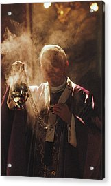 Pope John Paul II Incenses The Altar Acrylic Print by James L. Stanfield