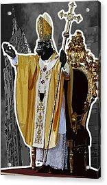 Pope King Kong Acrylic Print by Travis Burns