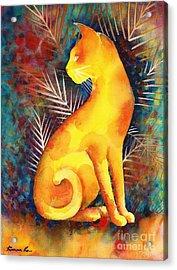 Popoki Hulali Acrylic Print by Frances Ku