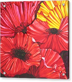 Poppies Fantasy Acrylic Print by Gabriela Stavar
