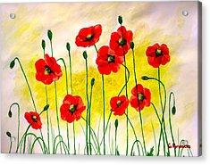 Poppies Acrylic Print by Sonya Ragyovska