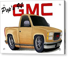 Pop's Gmc Acrylic Print by Lyle Brown