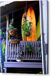 Porch Surf Acrylic Print by Sharon Farris