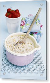 Porridge In A Pan Acrylic Print by Veronique Leplat