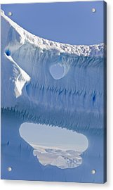 Portion Of A Gigantic Iceberg Acrylic Print by Ron Watts