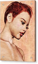 Portrait - No. 10 - Colour Acrylic Print by Maynard Ellis