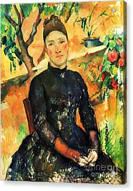 Portrait Madame Cezanne Acrylic Print by Pg Reproductions