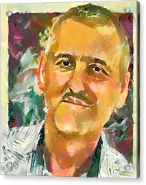 Portrait Of A Painter Acrylic Print by Yury Malkov