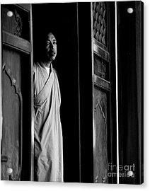 Portrait Of A Shaolin Monk Acrylic Print by Dean Harte
