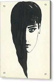 Portrait Of A Woman  Acrylic Print by Valeria Jye