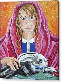 Portrait Of Ashley Acrylic Print by John Keaton