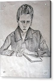 Portrait Of Haley Golz Acrylic Print by Jana Barros