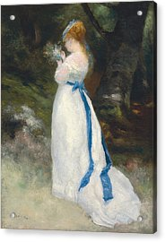 Portrait Of Lise   Acrylic Print by Pierre Auguste Renoir