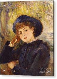 Portrait Of Mademoiselle Demarsy Acrylic Print by Pierre Auguste Renoir