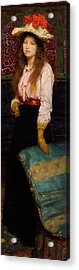 Portrait Of Miss Macwirter Acrylic Print by Sir Lawrence Alma-Tadema