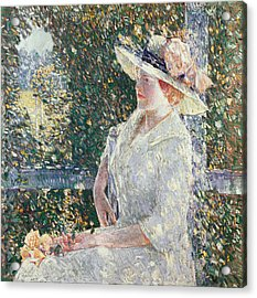 Portrait Of Miss Weir Acrylic Print by Childe Hassam