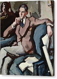 Portrait Of Willie Peploe Acrylic Print by Samuel John Peploe