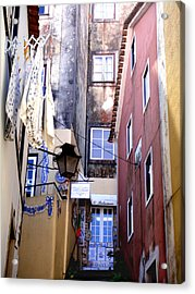 Urban Acrylic Print featuring the photograph Portuguese Alley by Roberto Alamino
