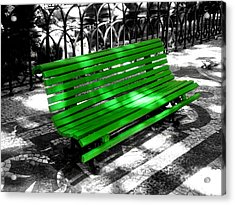 Benches Acrylic Print featuring the photograph Portuguese Bench by Roberto Alamino