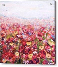 Posies Acrylic Print by Andria Alex