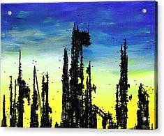Post Apocalyptic Skyline 2 Acrylic Print by Jera Sky